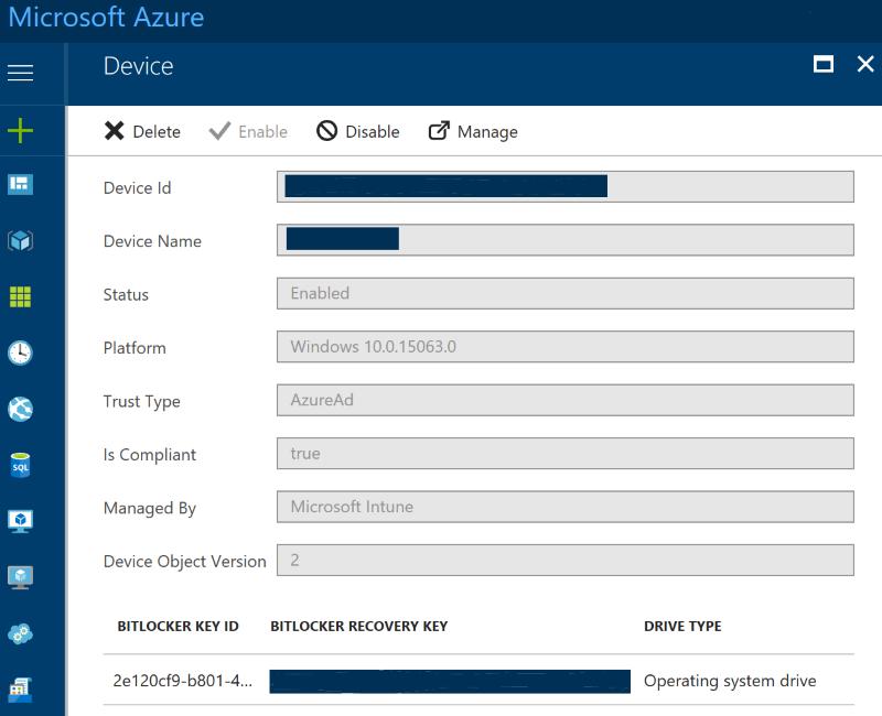 Het nut van BitLocker Recovery Keys in Azure Active